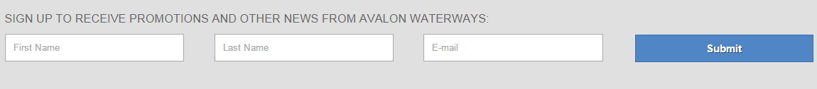 Image of email sign up fields.